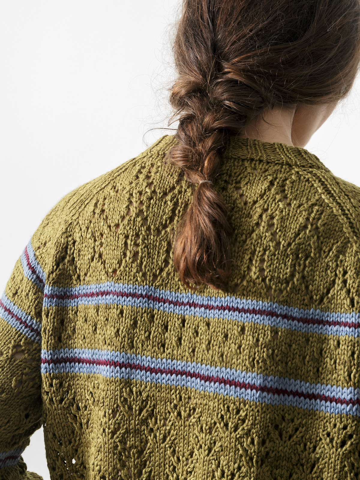 Lacy striped sweater Image