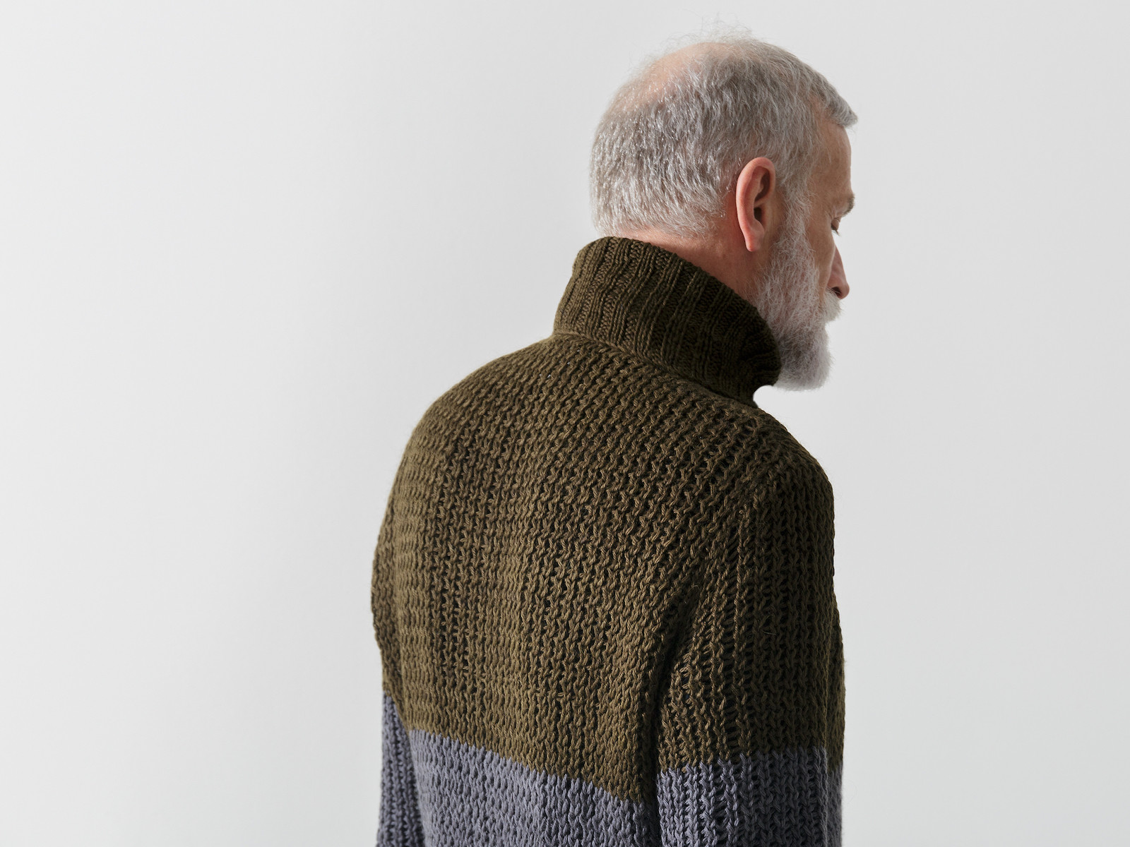 Roll neck open knit sweater Image