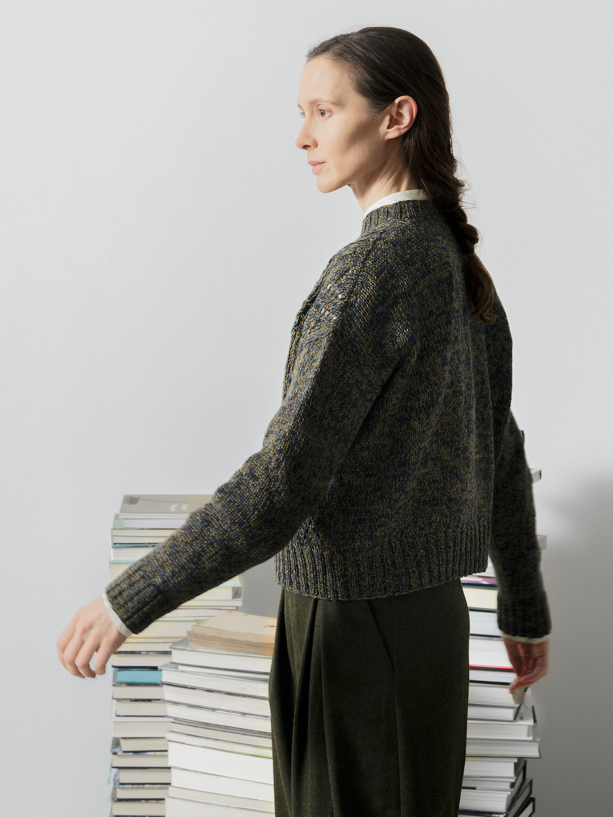 A-line patchwork sweater Image