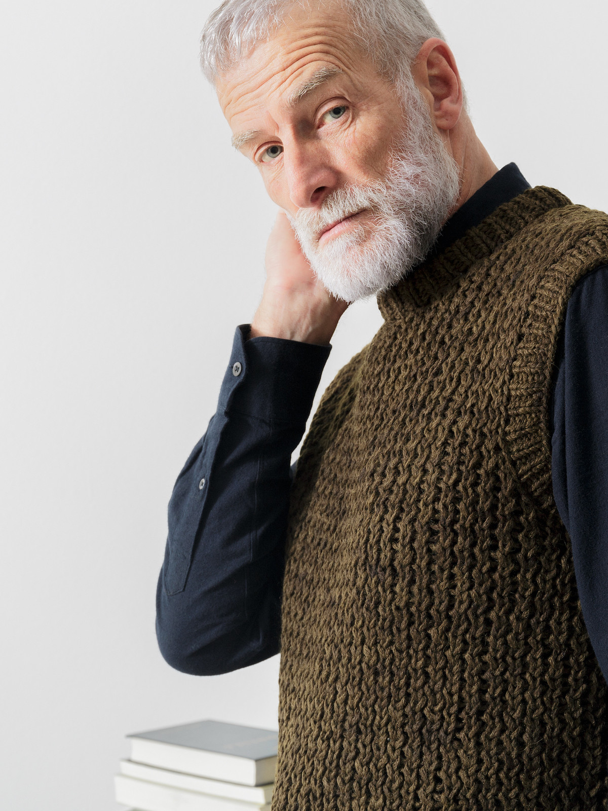 Open knit vest Image