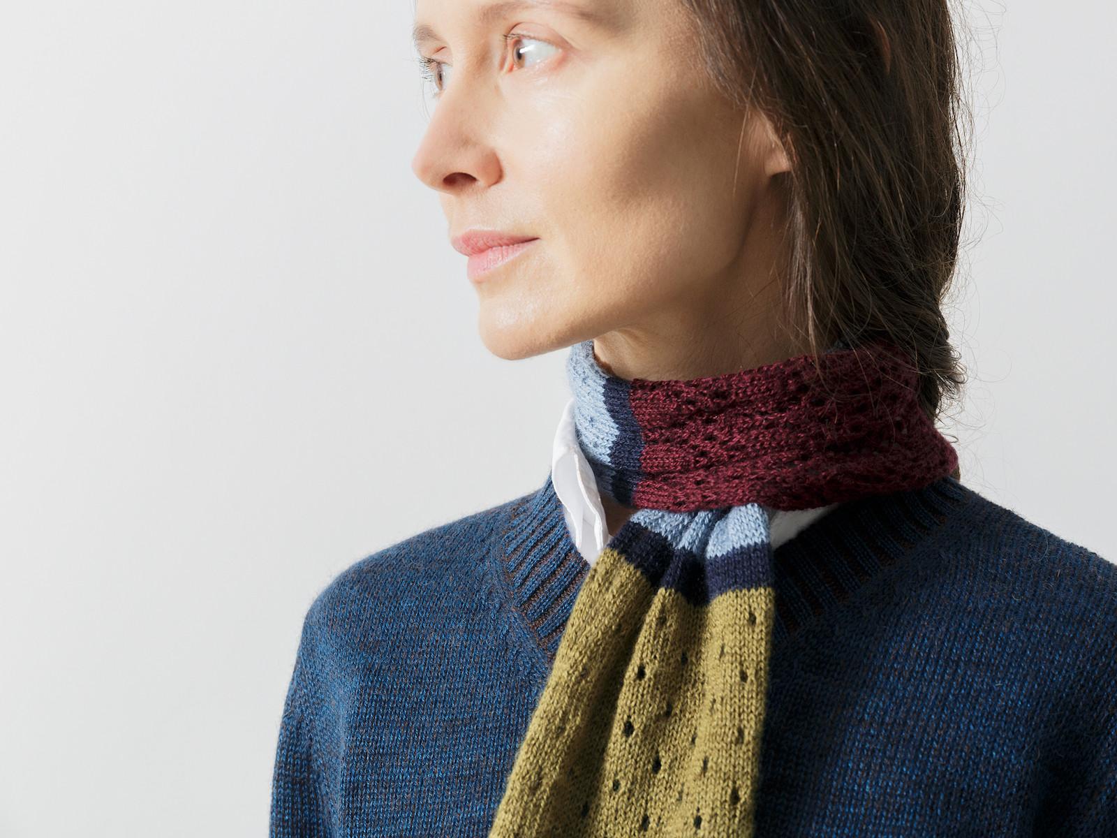 Short patchwork scarf Image