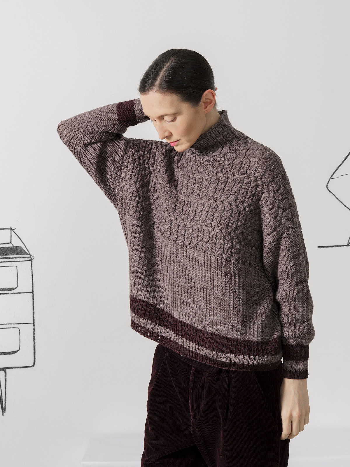 Funnel braided sweater Image