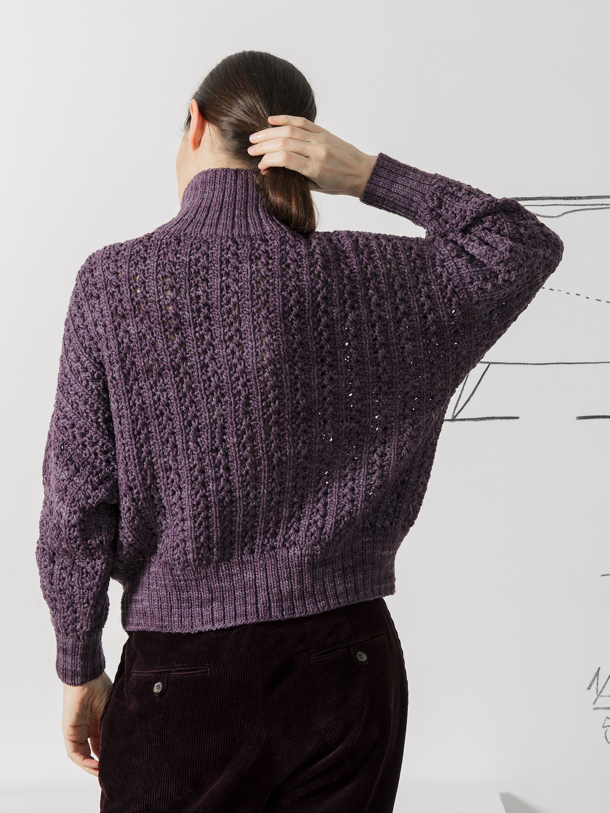 Funnel lacy sweater Image
