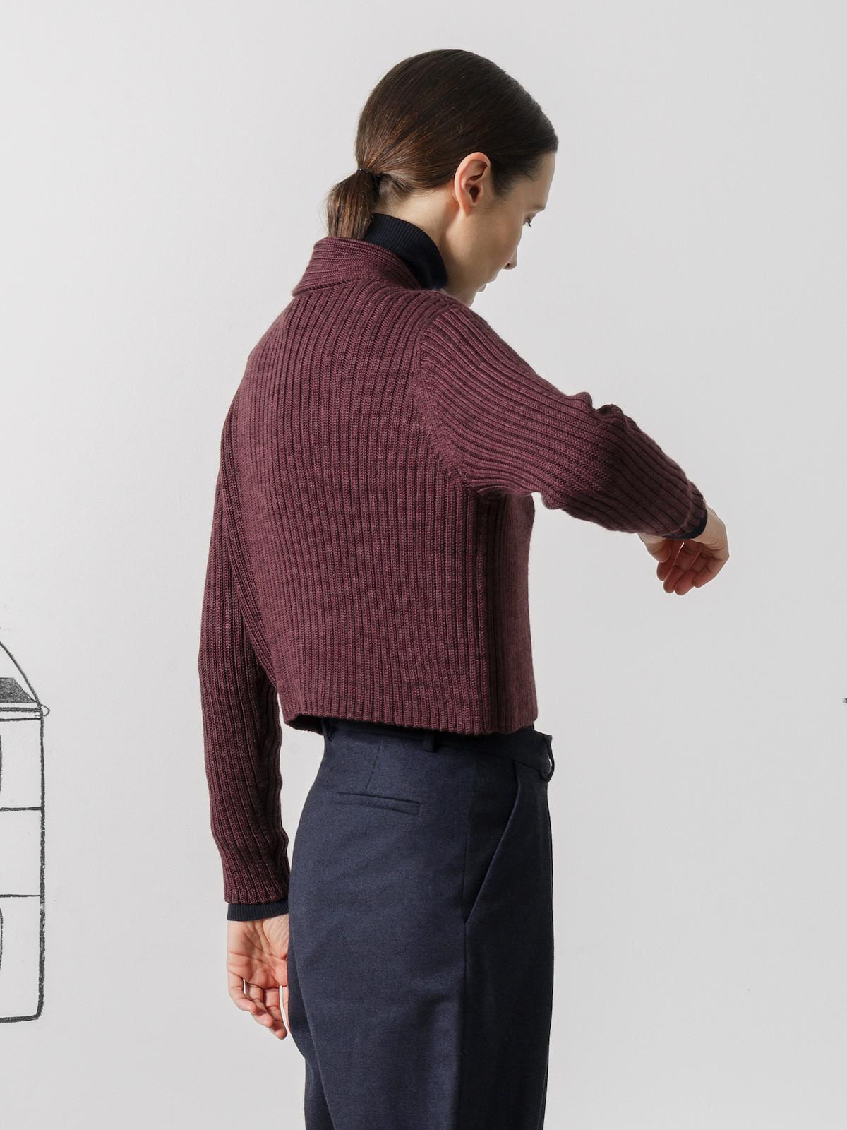Shawl lapel cardigan Image
