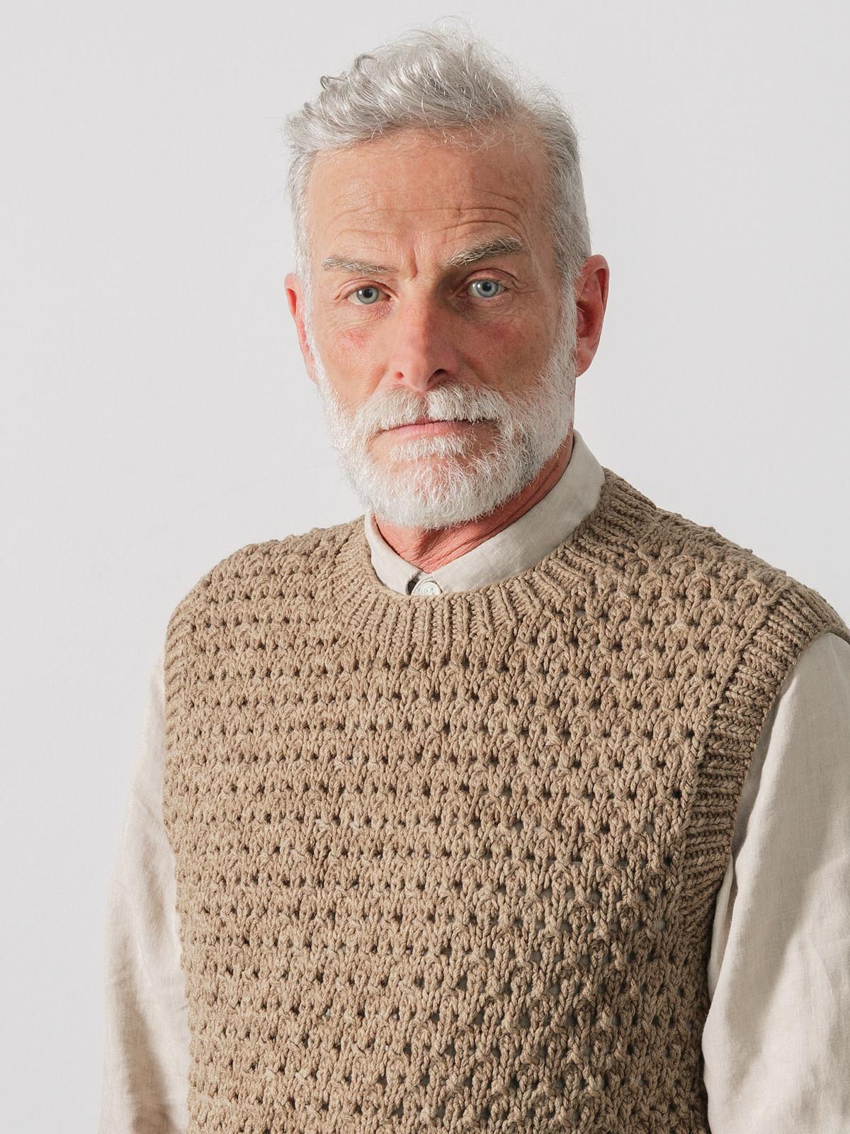 Open-knit vest