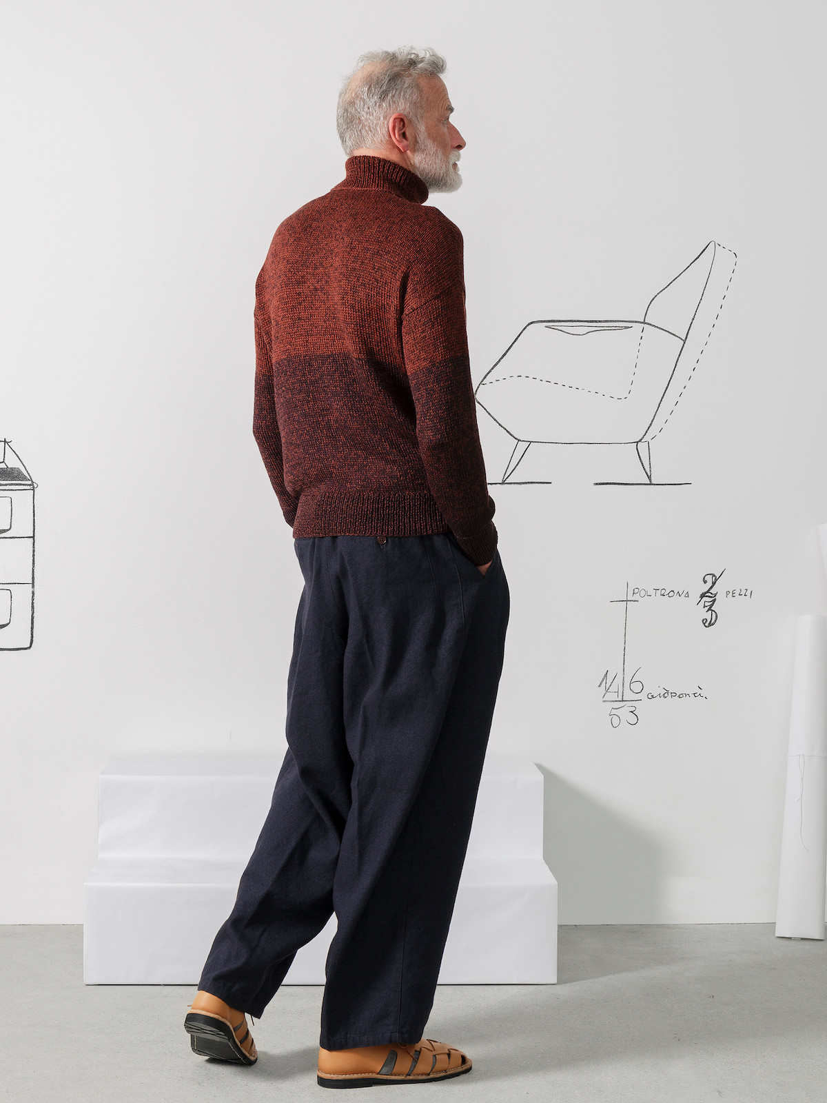 Roll-neck blocks sweater Image