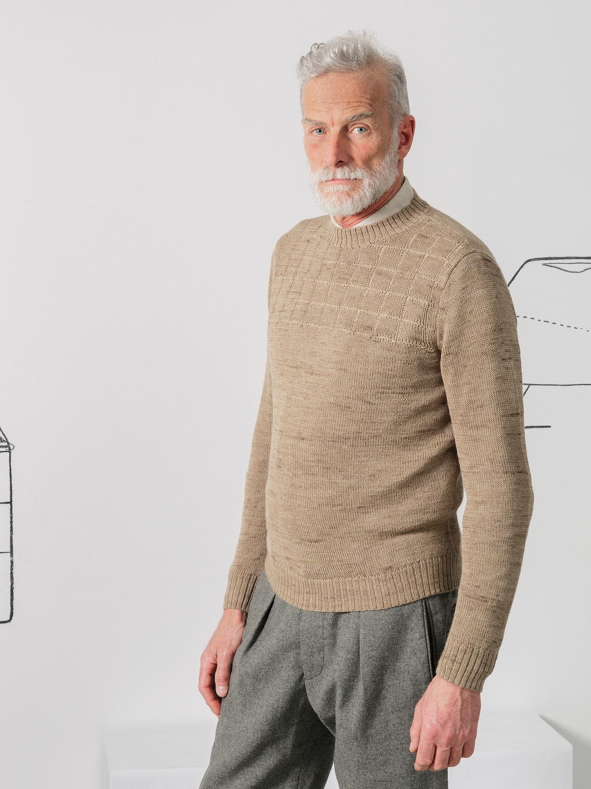 Crew-neck checks sweater Image