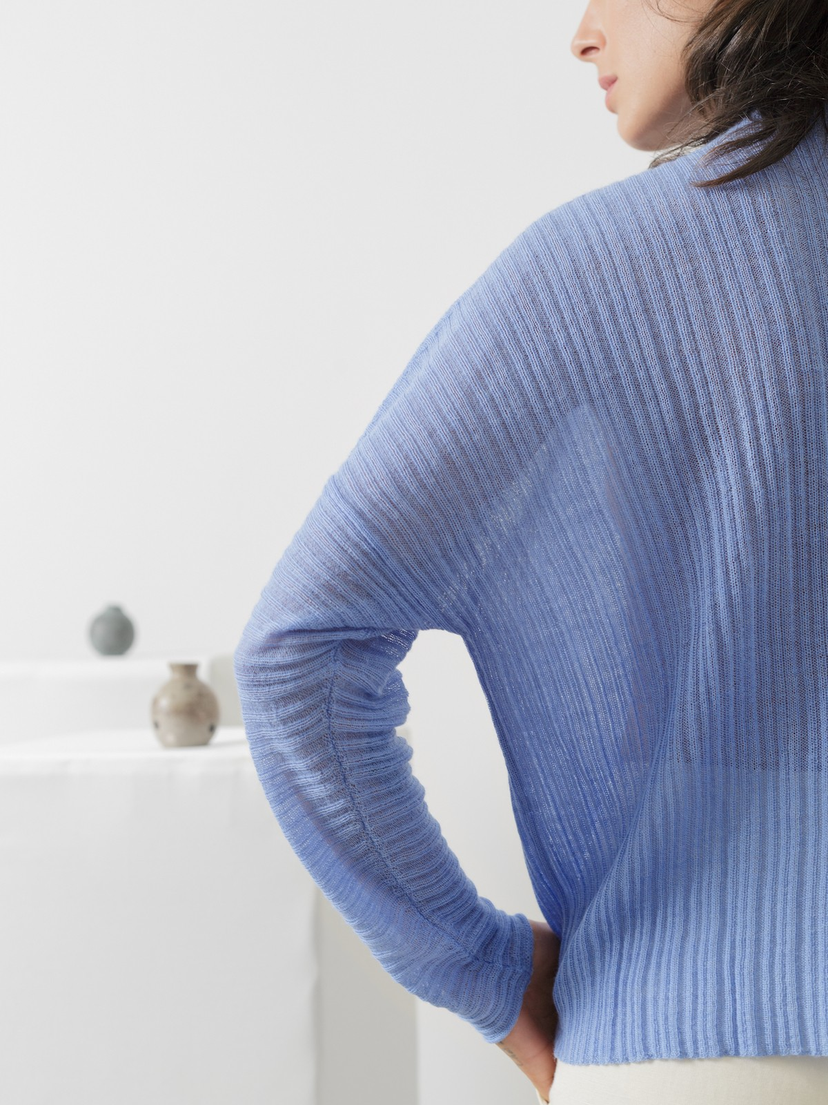 Sheer pleated sweater Image