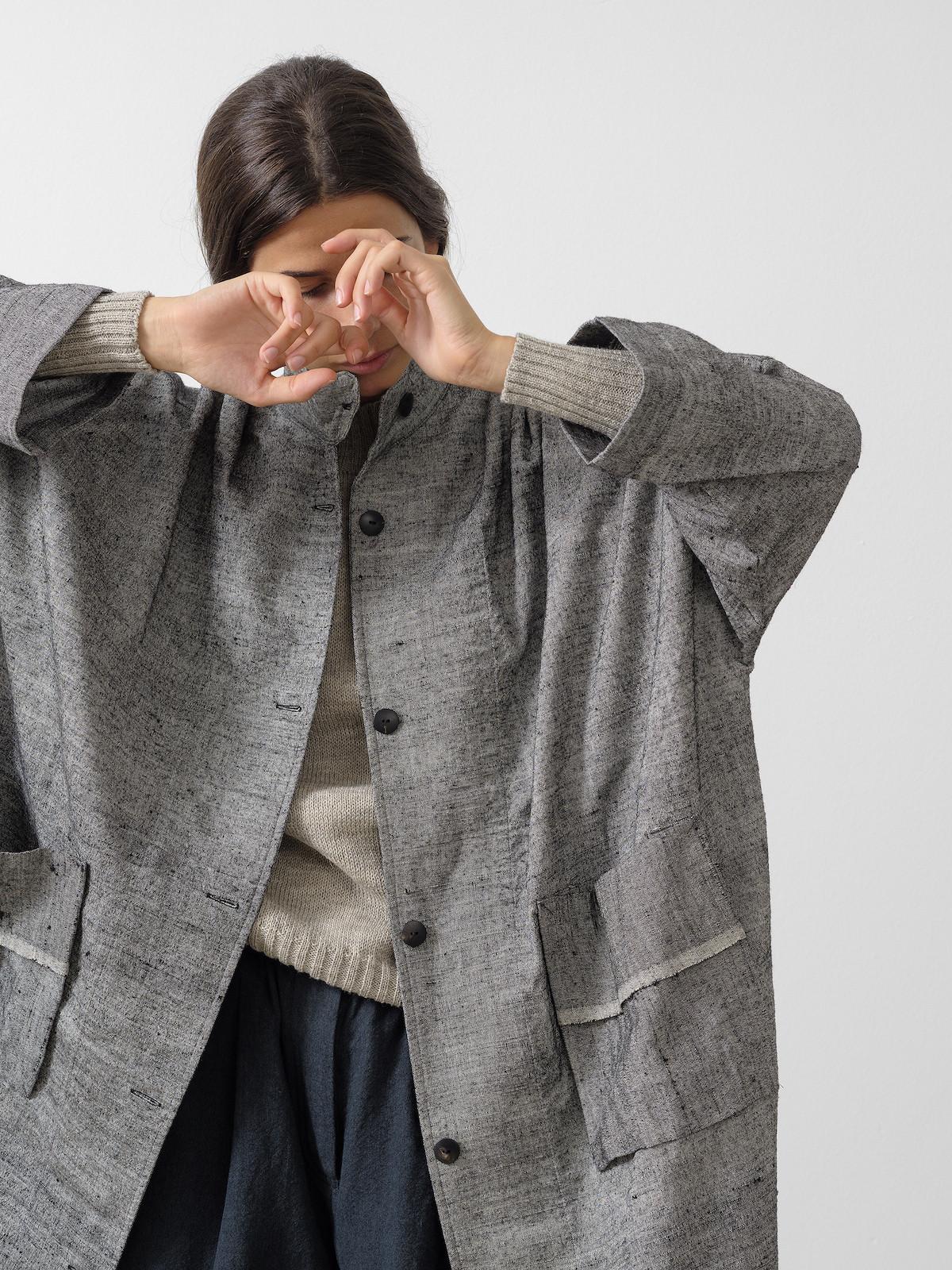 Silk oversized coat Image