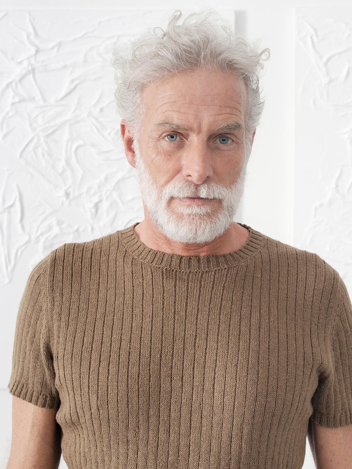 Linen ribbed t-shirt Image