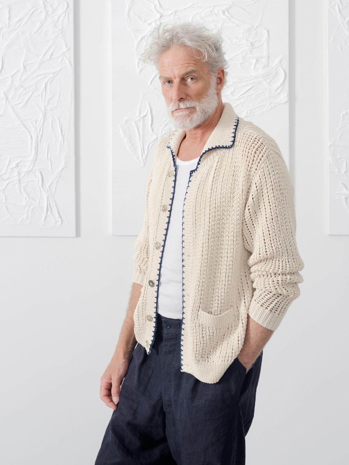 Collar cardigan Image