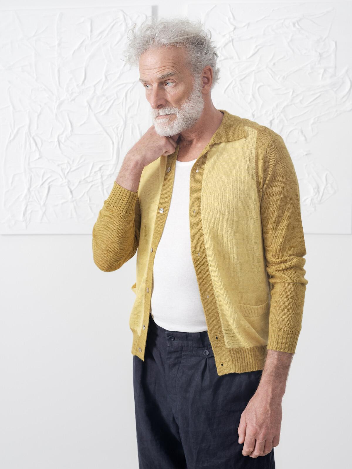 Two tones collar cardigan Image