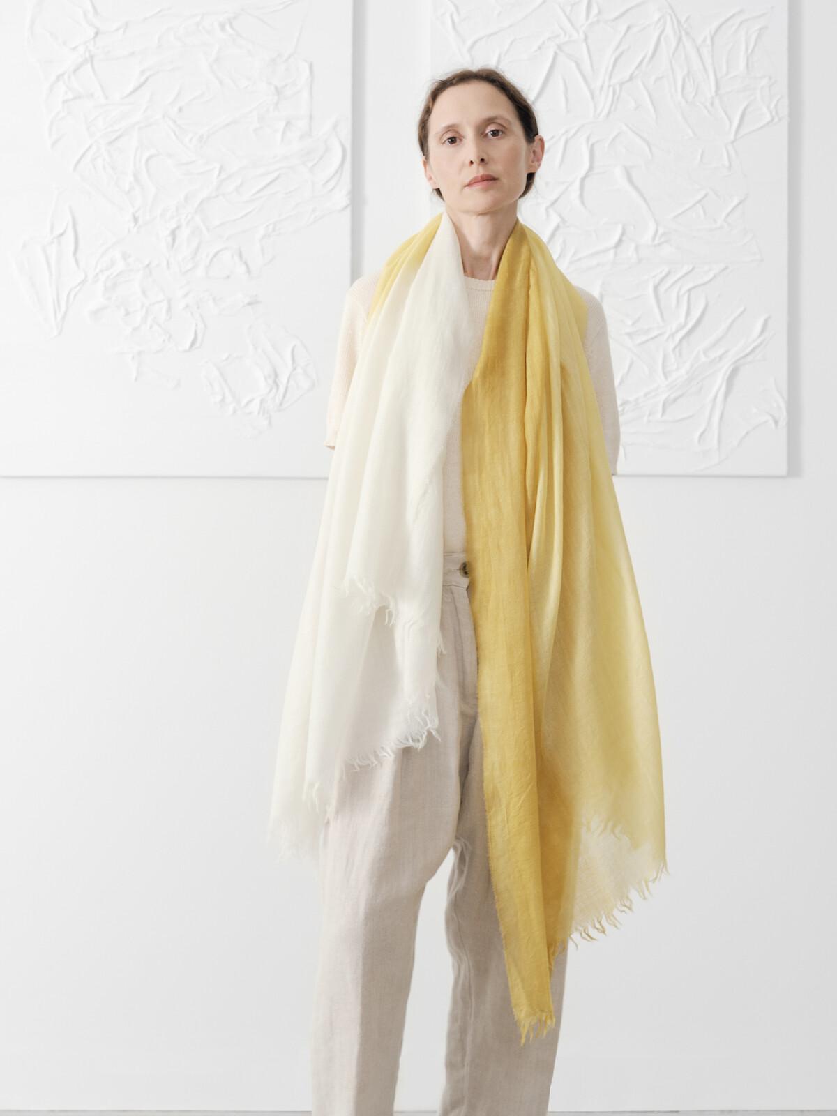 Handpainted scarf