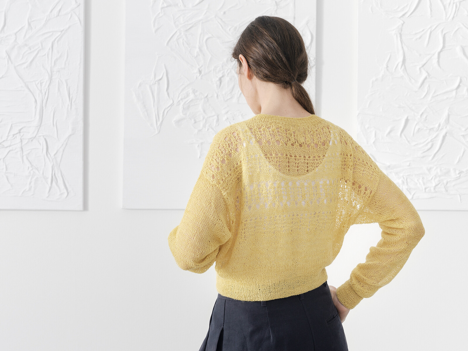 Lacy yoke sweater Image