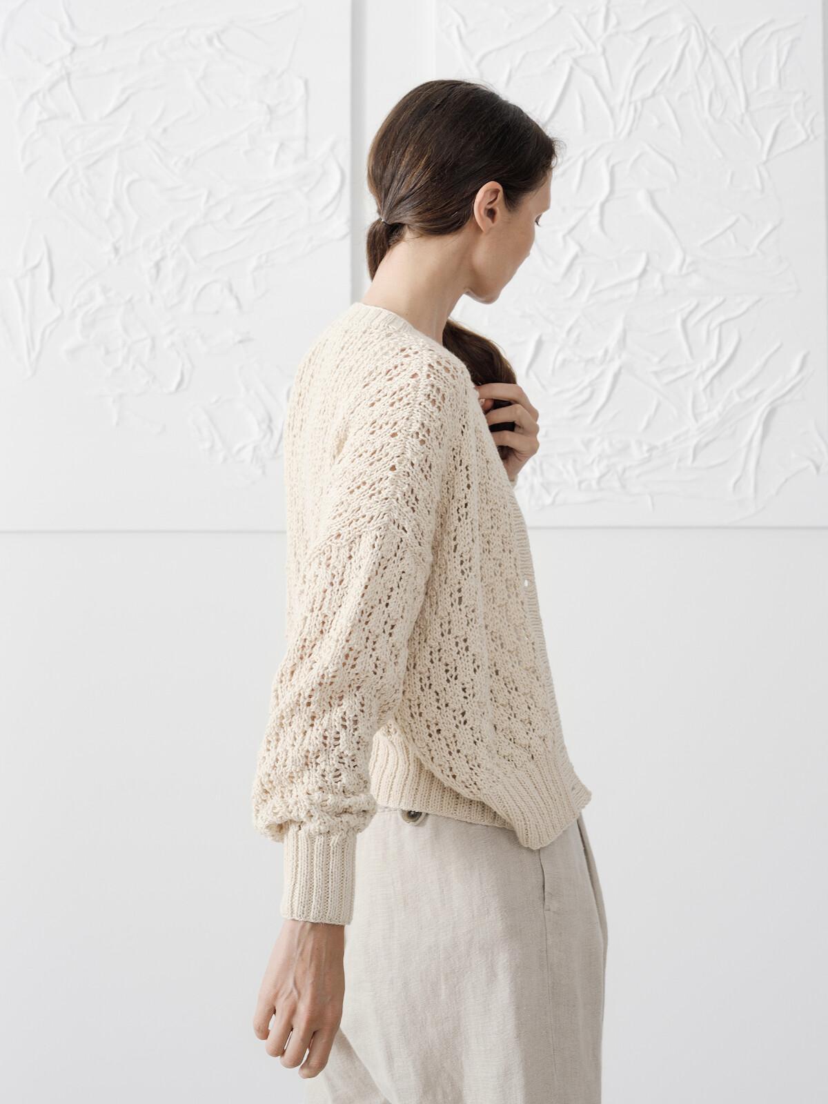 Open knit cardigan Image