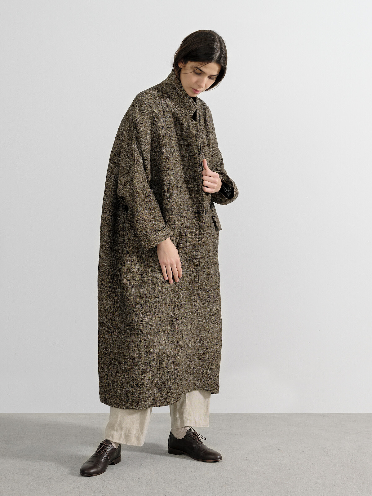 Silk oversized coat