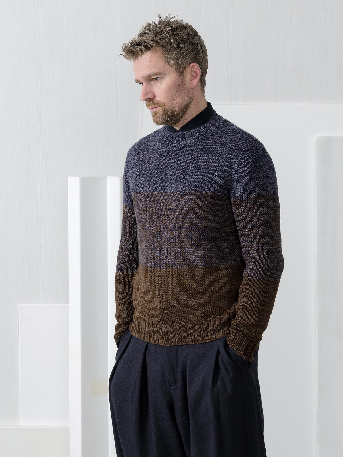 Crew-neck striped sweater