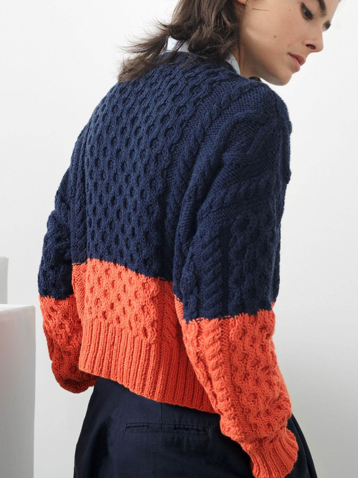 Cables cardigan
