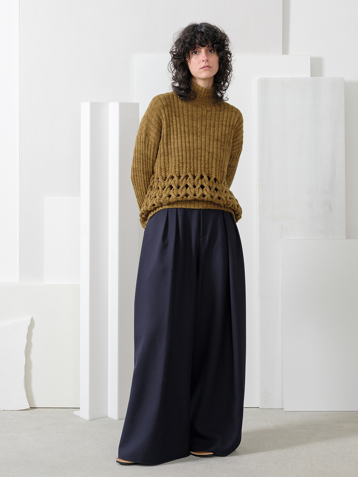 Open braided sweater Image