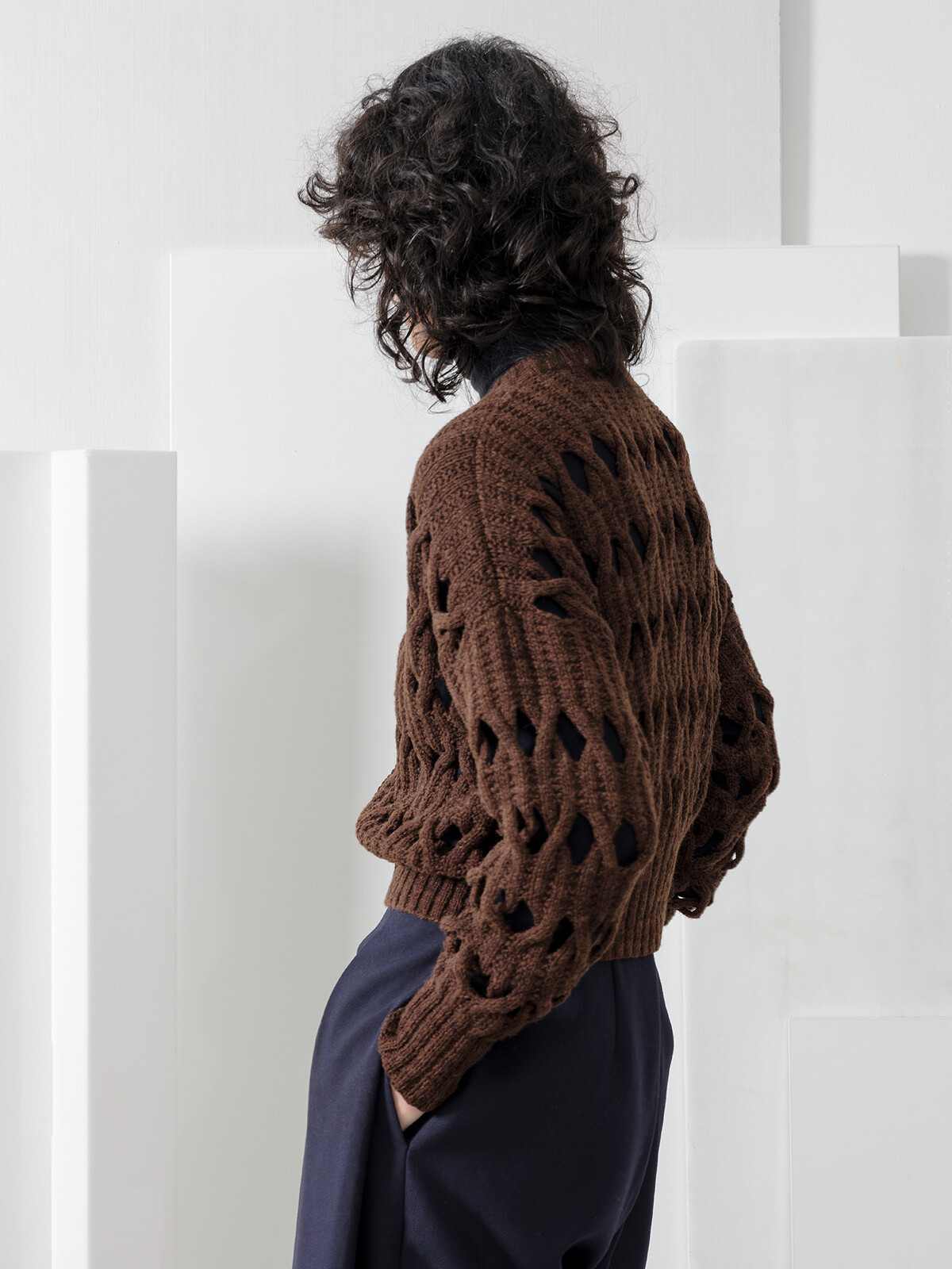 Open braided cardigan Image