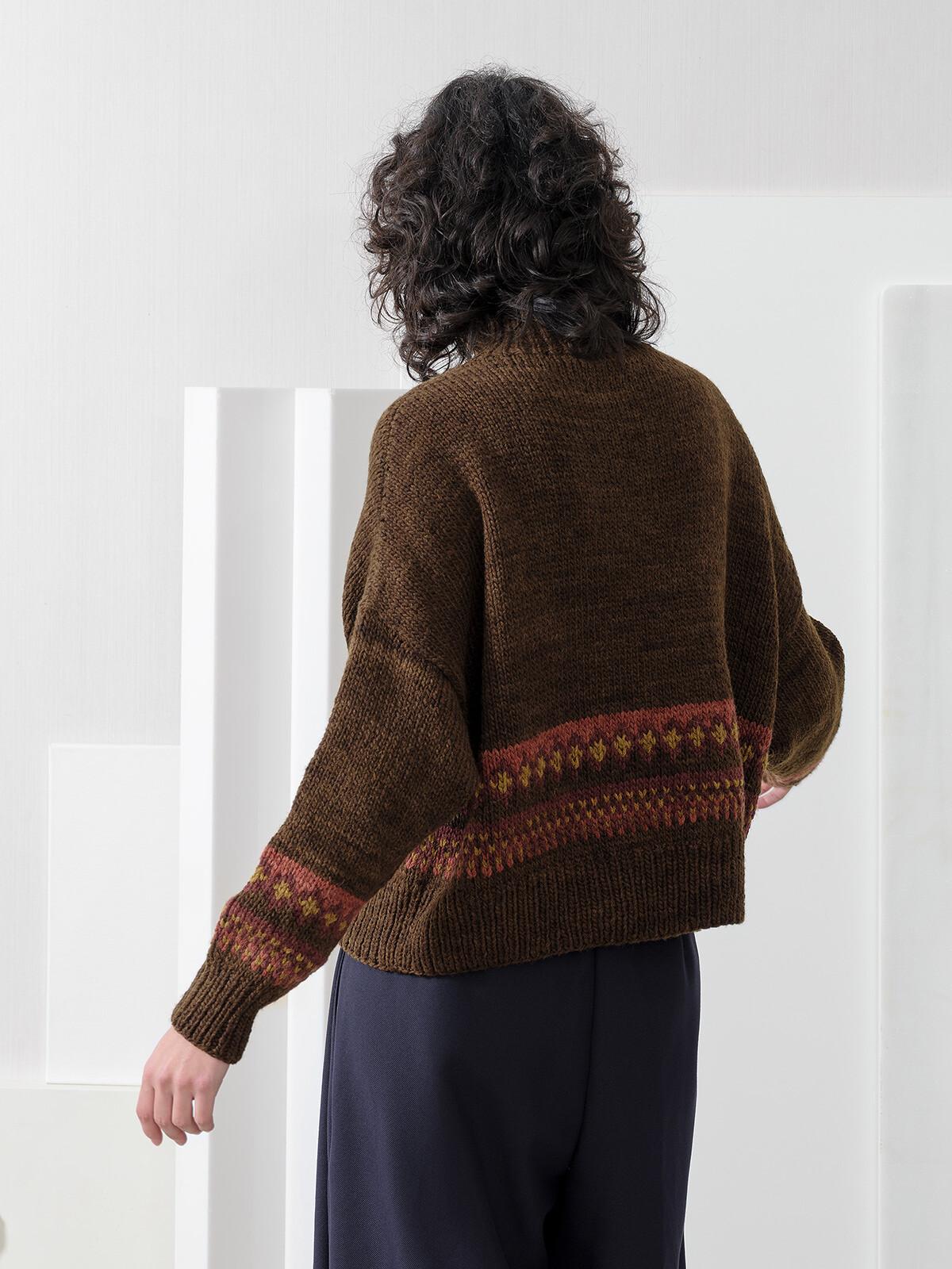 Funnel jacquard sweater Image