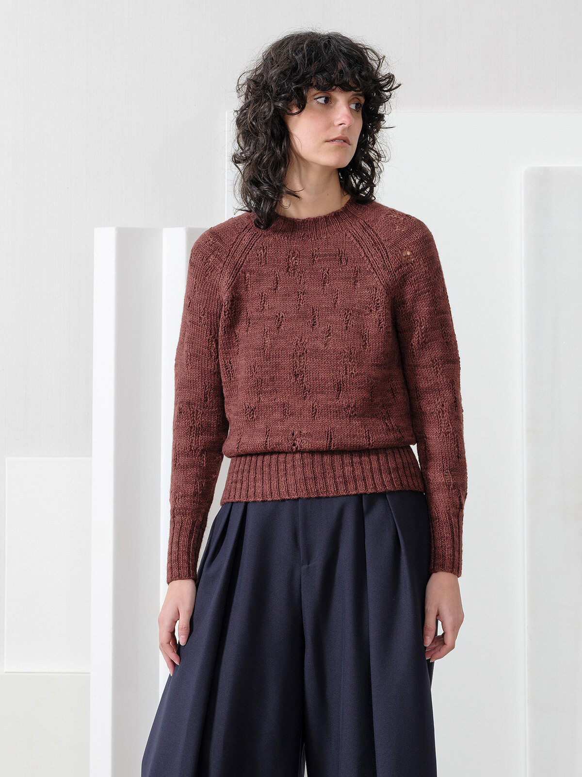 Open stitches sweater Image