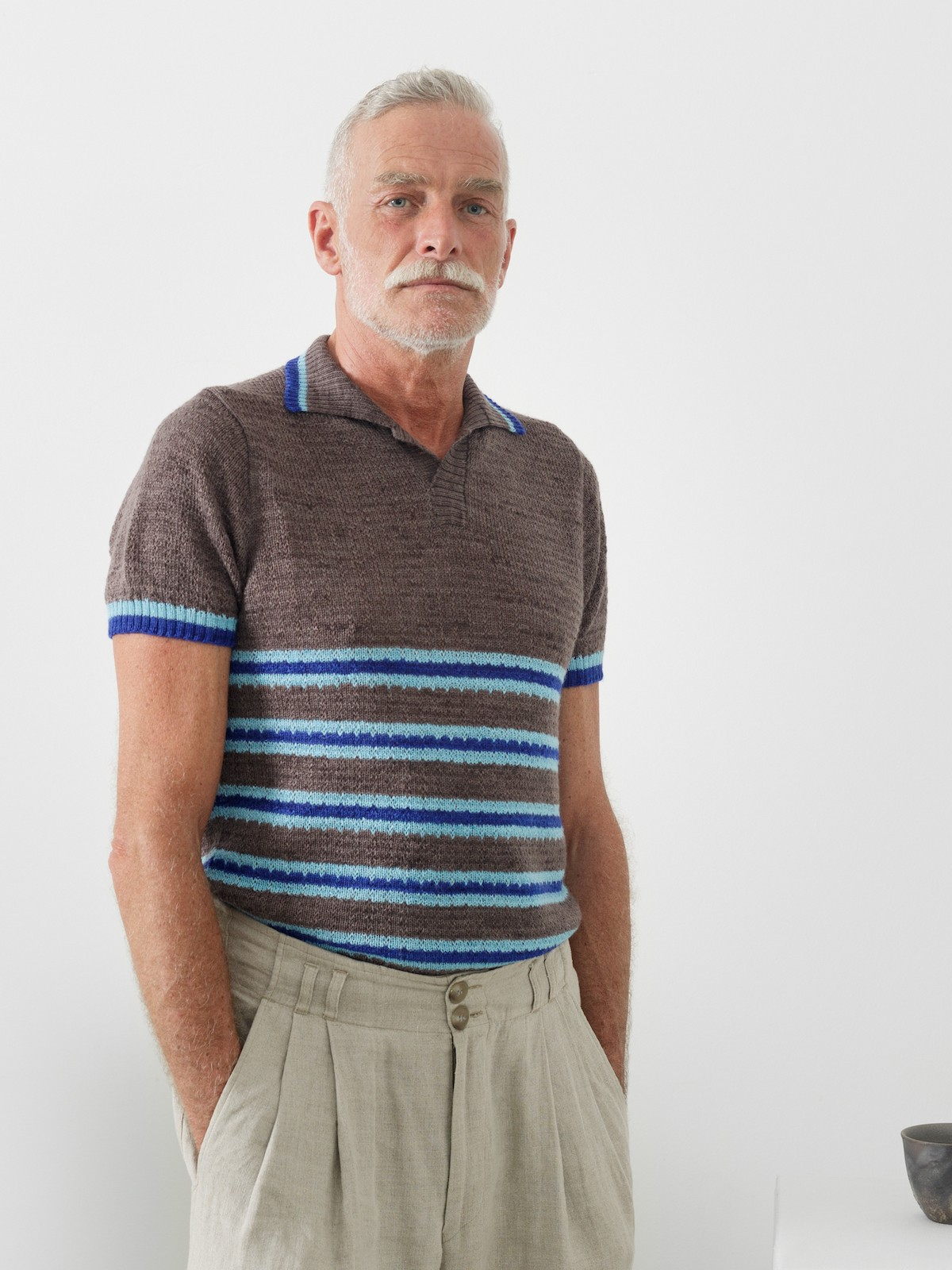 Striped polo Image