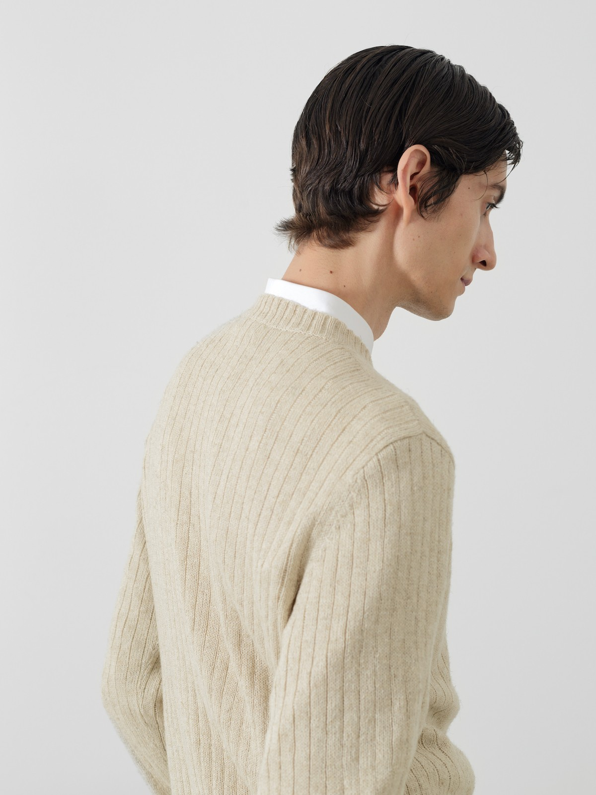 Ribbed linen sweater Image