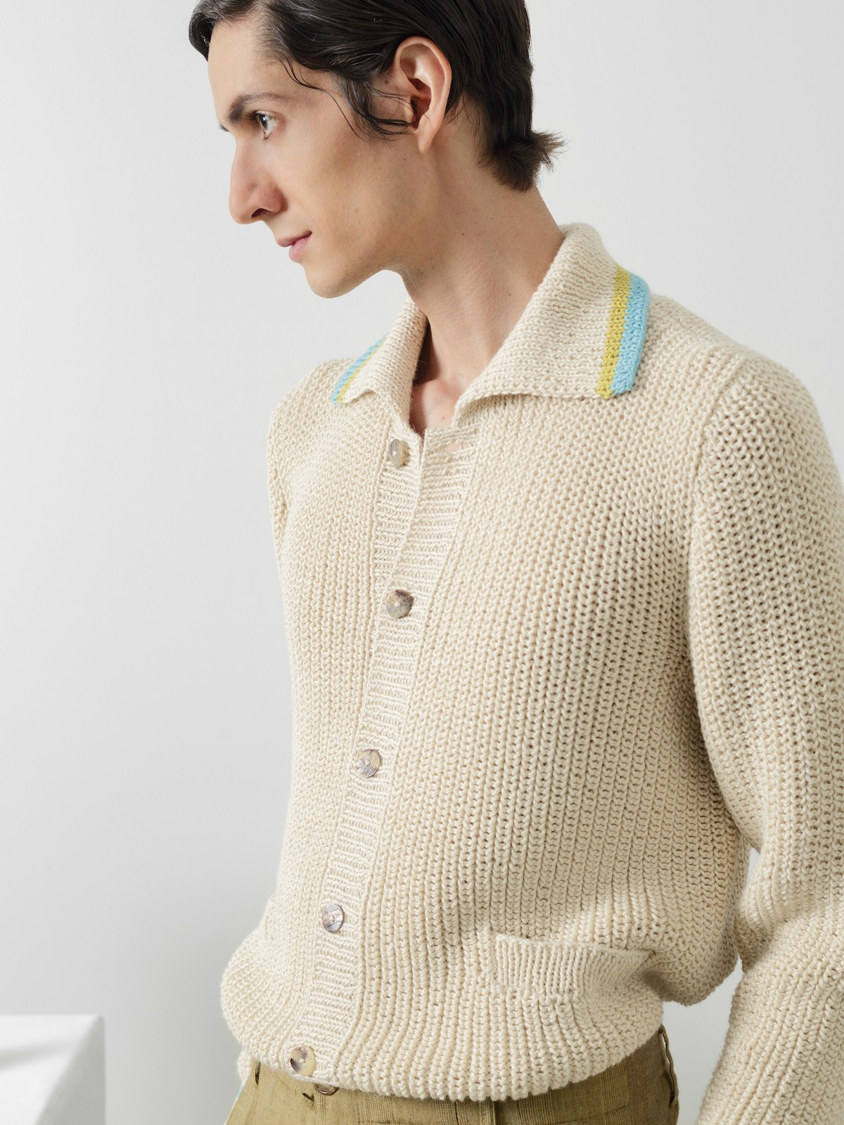 Collar fisherman cardigan Image