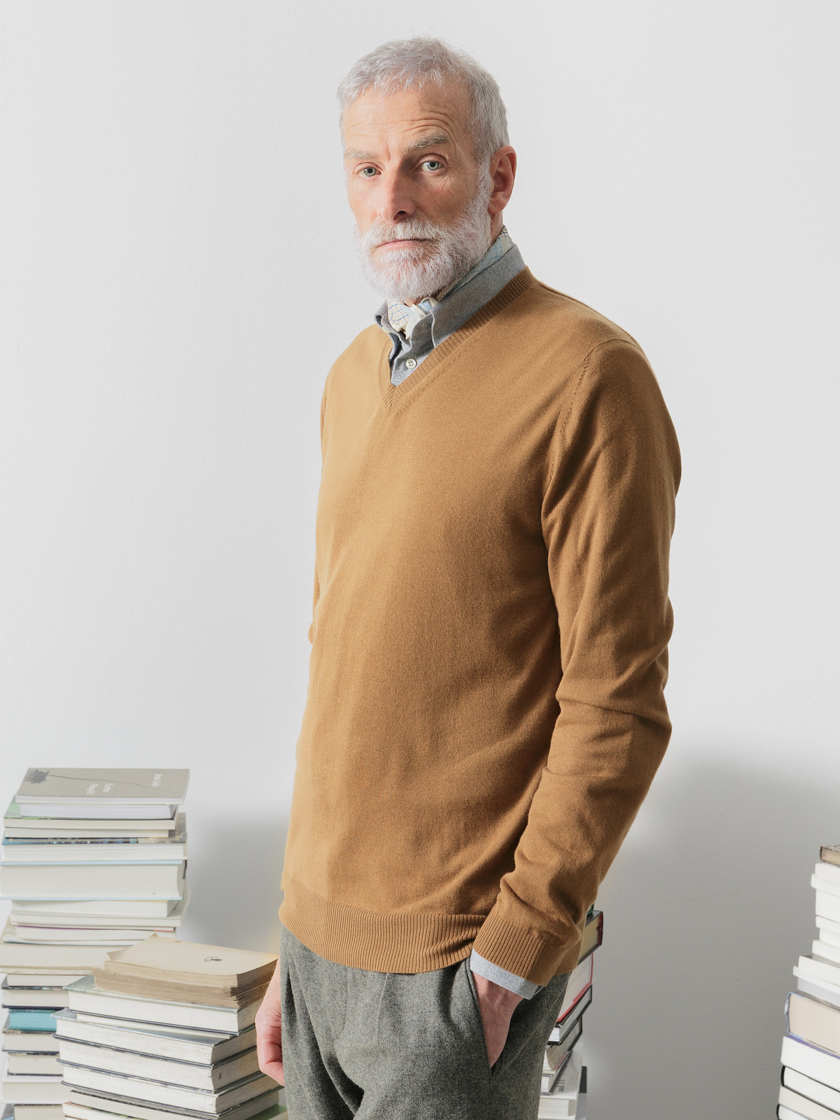 Vicuña v-neck sweater Image