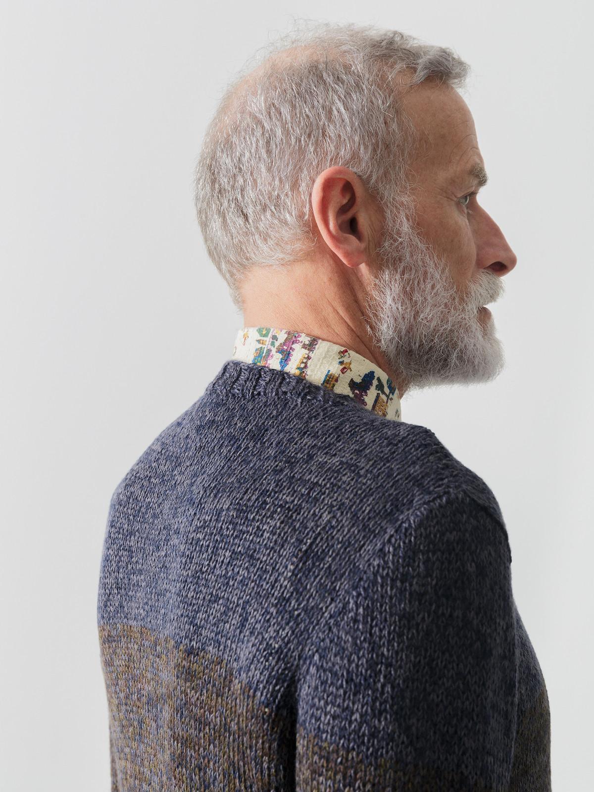 Crew-neck striped sweater Image