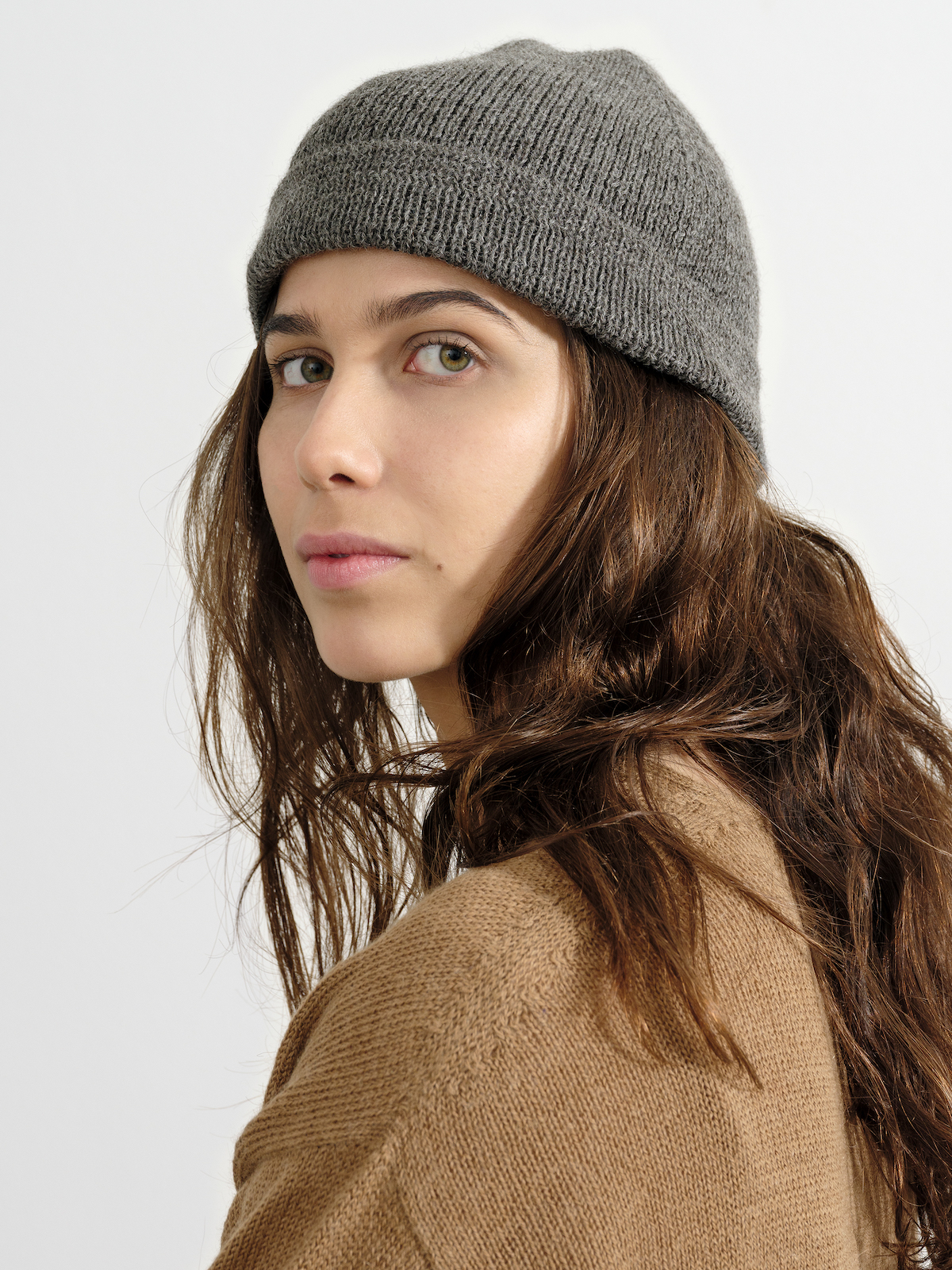 the Beanie in Natural Grey | by Knitbrary
